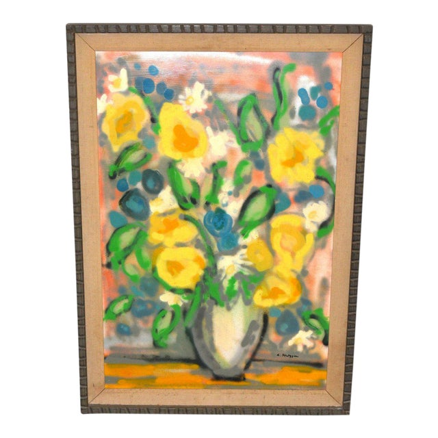 Evelyn Metzger Spring Bouquet Oil Painting For Sale