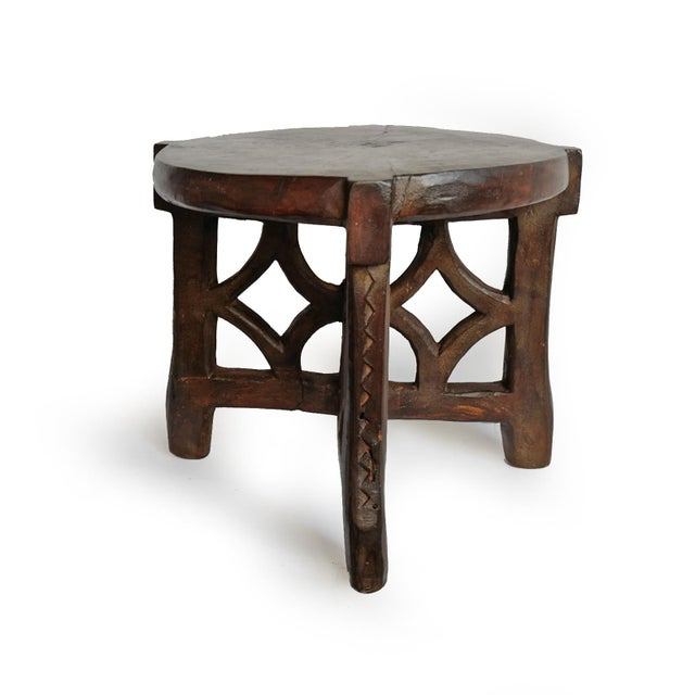 Consigned Tanzania Wood Stool For Sale In Los Angeles - Image 6 of 7