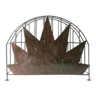 Vintage Haitian Metal Art Magazine Rack For Sale