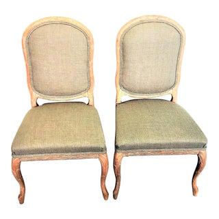 Vintage Italian Wheat Sheath Chairs - a Pair For Sale
