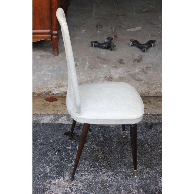 Suite of Six French Art Deco/Art Modern Solid Mahogany Dining Chairs. - Image 8 of 10
