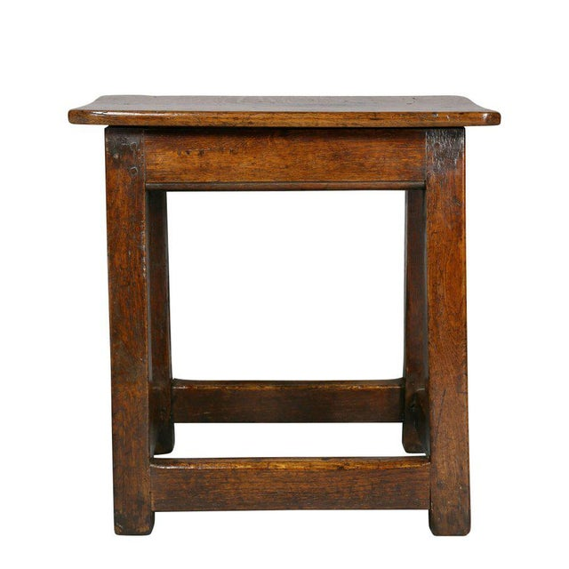 Wood George II Oak Stool/Table For Sale - Image 7 of 8