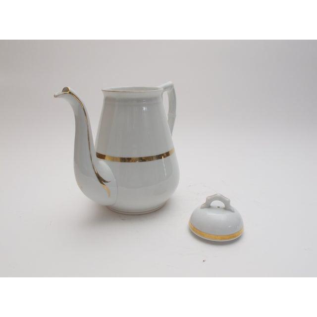 Wedding Band China Antique Coffee Pot C. 1890s - Image 3 of 5