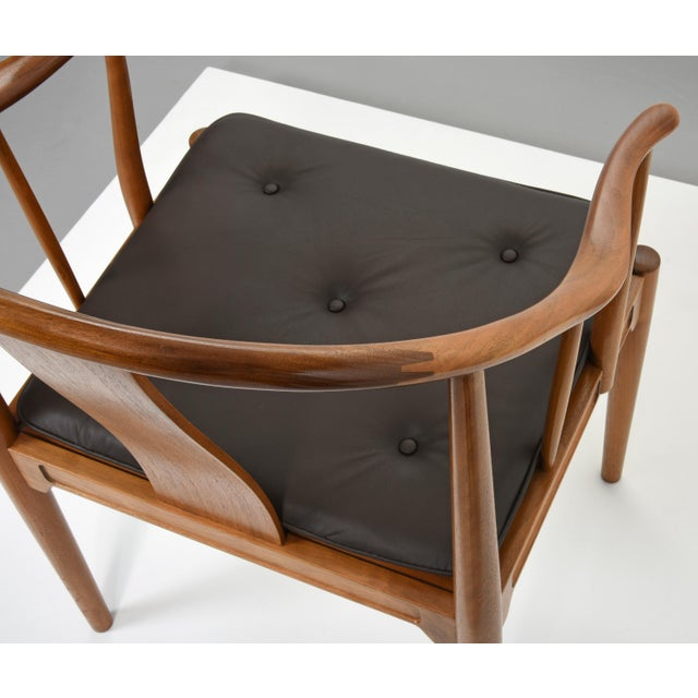 Black Hans J. Wegner China Chairs for Fritz Hansen, Set of Four, Circa 1944 For Sale - Image 8 of 10