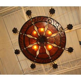 French Mica and Iron Chandelier Preview