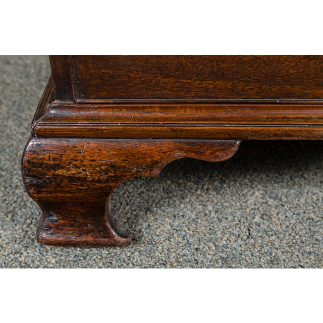 19th Century English Mahogany Antique Chest With Brush Slide Circa 1880 For Sale - Image 5 of 11