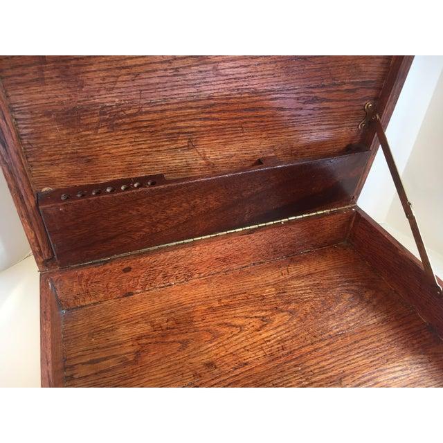 Folk Art Wooden Attache Briefcase Art Case For Sale - Image 4 of 6