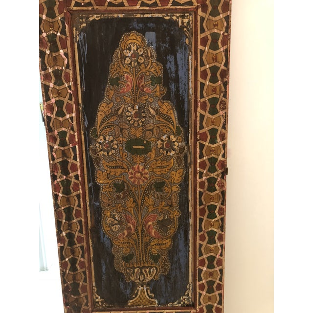 Wood Moroccan Geometric Pattern Single Panel For Sale - Image 7 of 11