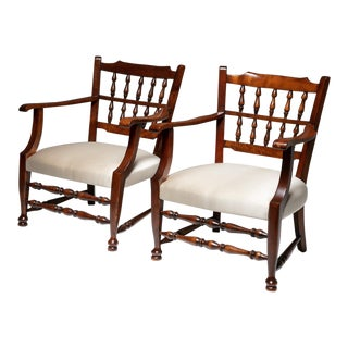 Rare Pair of Armchairs by Tomaso Buzzi For Sale