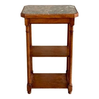 Paul Ferrante Italian Marble Top Side Table For Sale