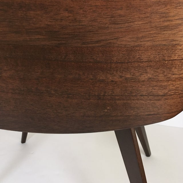 Mid-Century Style Wood Wrapped Accent Chairs- a Pair For Sale - Image 12 of 13