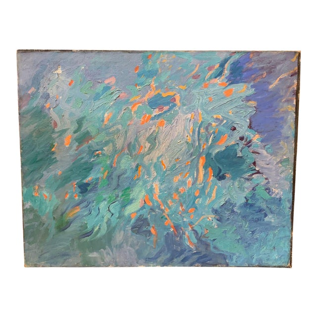 Morris Schulman Abstract Figural Painting, 1960s For Sale
