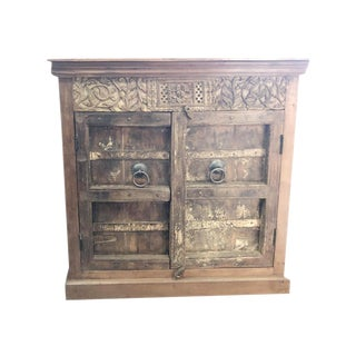 1920s Antique Carved Cabinet For Sale