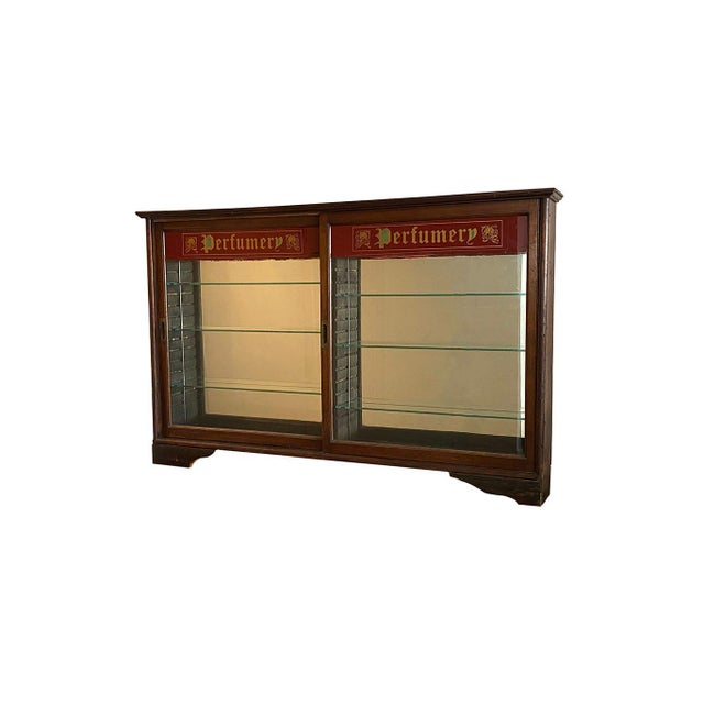 Brown Early 20th Century Store Perfume Display Cabinet For Sale - Image 8 of 8