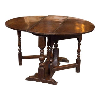 Diminutive English Oak Gateleg Table, circa 1750 For Sale