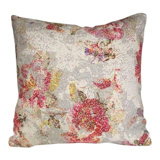 Kim Salmela Abstract Floral Pillow For Sale