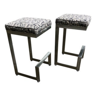 Johnston Casuals Furniture Bar Stools- A Pair For Sale