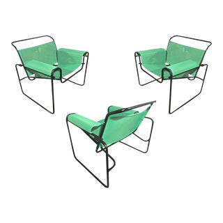 Le Corbusier for Thonet Set of 3 Interpreted Outside Lounge Chairs For Sale