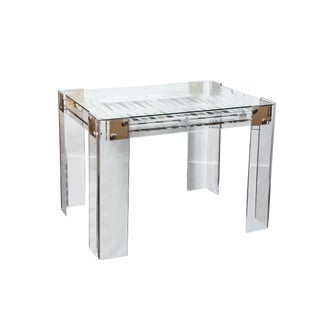 Lucite Backgammon Table in the Manner of Charles Hollis Jones For Sale