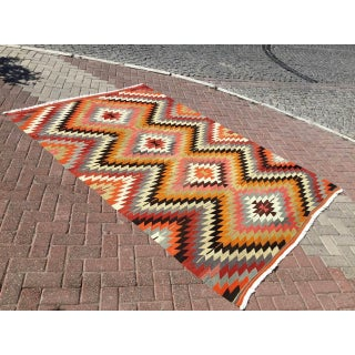 Vintage Diamond Design Turkish Kilim Rug Preview