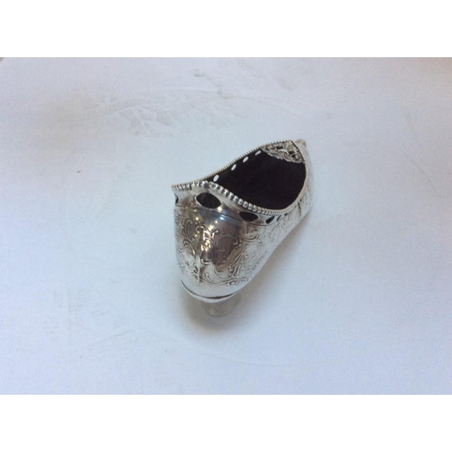 Antique Life Size Silver Shoe For Sale - Image 5 of 11