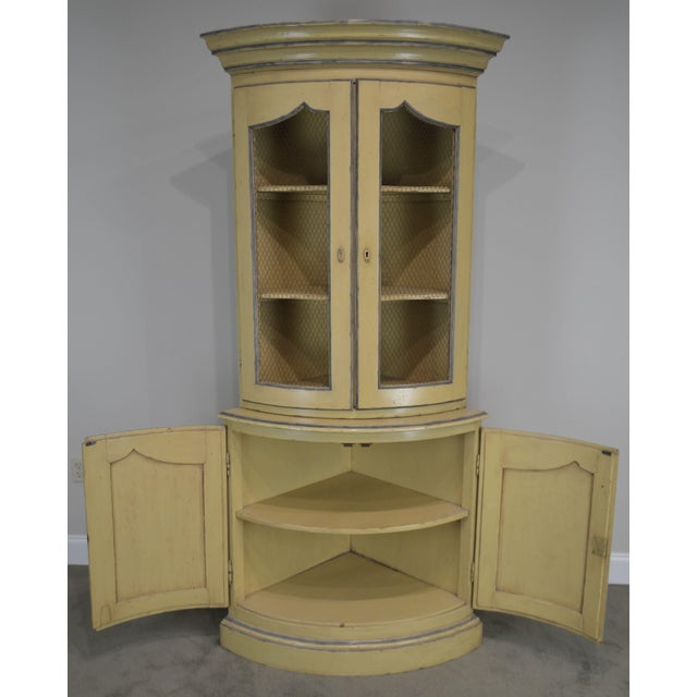 French Country Style Corner Cabinet For Sale - Image 12 of 13