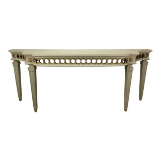 Large Neoclassical Style Cream Painted and Gilt Console
