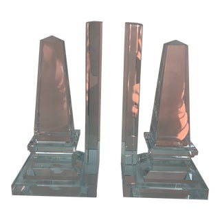 Modern Transitional Obelisk Bookends - a Pair For Sale