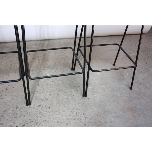 Set of Four Allan Gould Iron and Rope Stools - Image 4 of 10