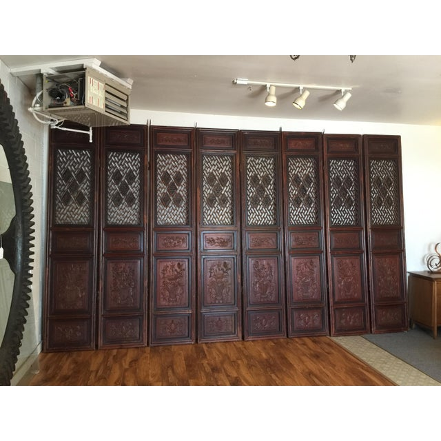 Chinese Antique Chinese Carved Wood Doors - Set of 4 For Sale - Image 3 of 12