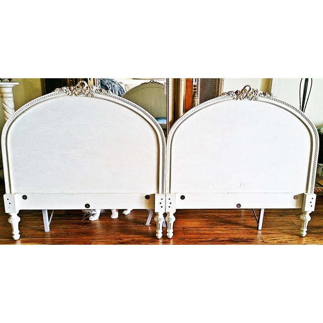 Wood 1920s Louis XVI Headboards - a Pair For Sale - Image 7 of 8