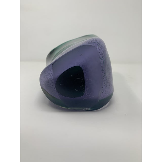 Late 20th Century Asymmetric Speckled Murano Glass Vase For Sale - Image 10 of 12