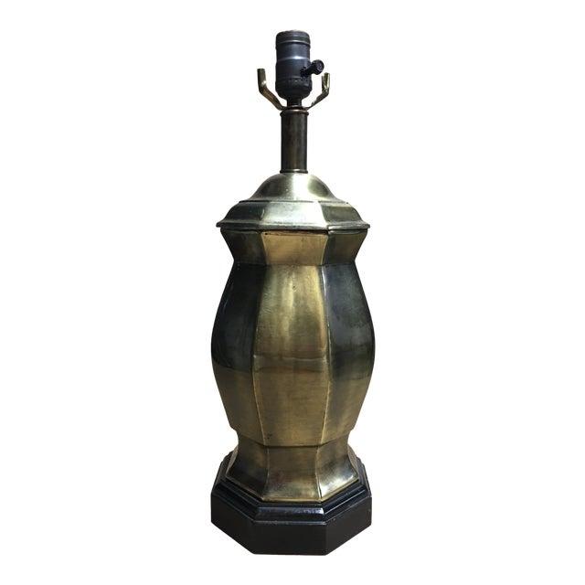 1950s Frederick Cooper Brass Ginger Jar Table Lamp For Sale