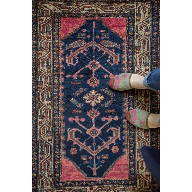 "Textile Vintage Hamadan Rug - 2'9"" X 4'2"" For Sale - Image 7 of 10"