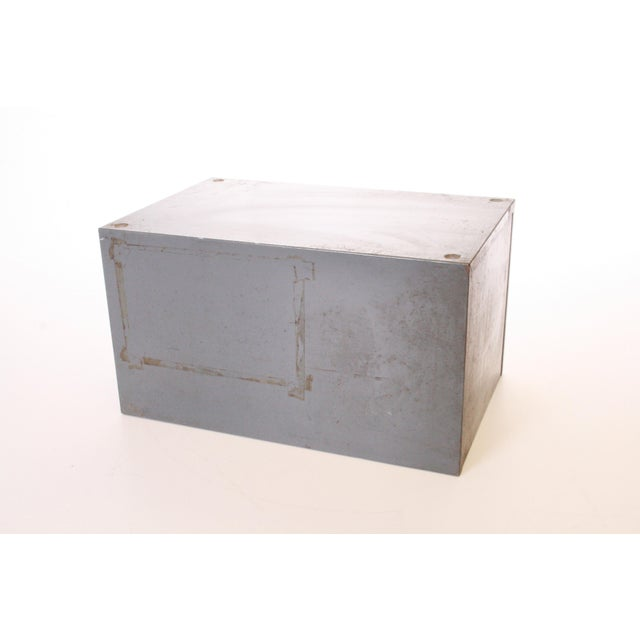 Metal Vintage Industrial Gray 6 Drawer Kardex Style File Cabinet For Sale - Image 7 of 11