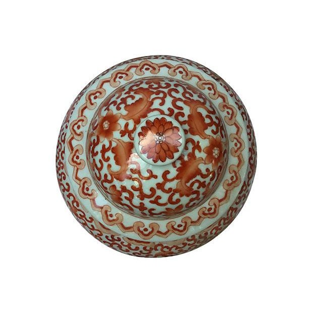 Coral & White Lidded Altar Urn - Image 3 of 5