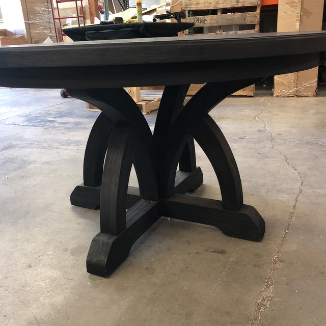 Hooker Corsica Dining Black Wooden Dining Table For Sale - Image 9 of 10