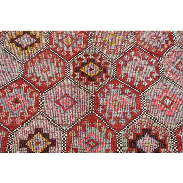 Vintage Turkish Fethiye Nomad's Flat Weave Rug For Sale - Image 6 of 12