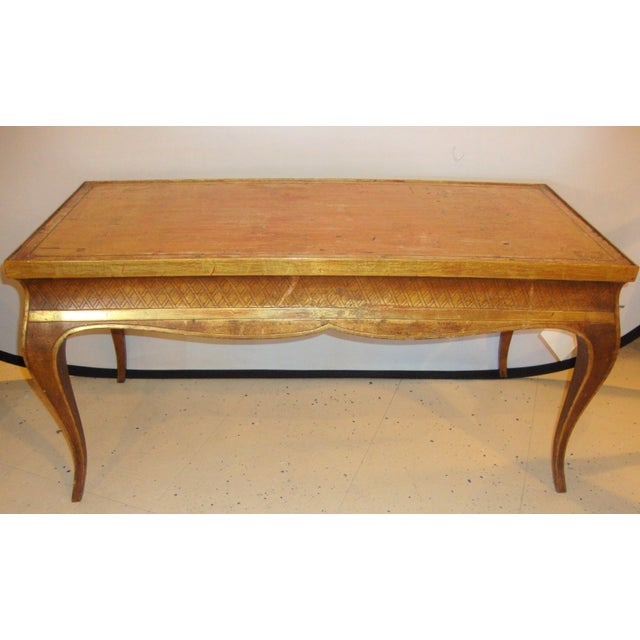 Hollywood Regency Style Jansen Gilt Gold Coffee Table For Sale In New York - Image 6 of 6