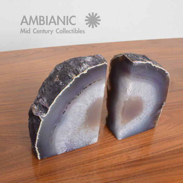 Pair of Amethyst Bookends Made in Brazil For Sale - Image 10 of 10