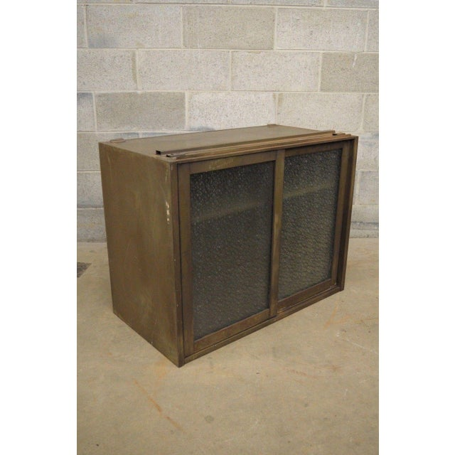 20th Century Industrial Remington Rand Green Steel Metal Stacking Barrister Storage Cabinet For Sale - Image 12 of 13
