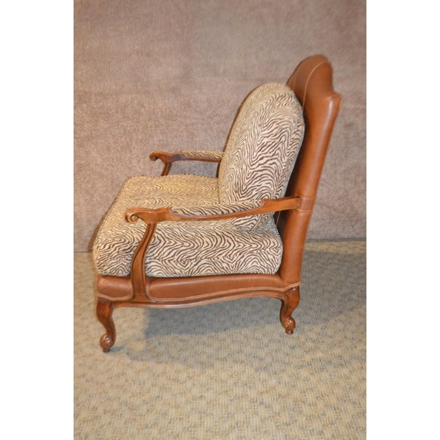 Ethan Allen Multi Fabric Oversized Chair & Ottoman For Sale In Philadelphia - Image 6 of 13