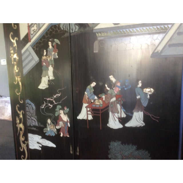 Asian Large Eight Panel Chinese Coromandel Screen For Sale - Image 3 of 7