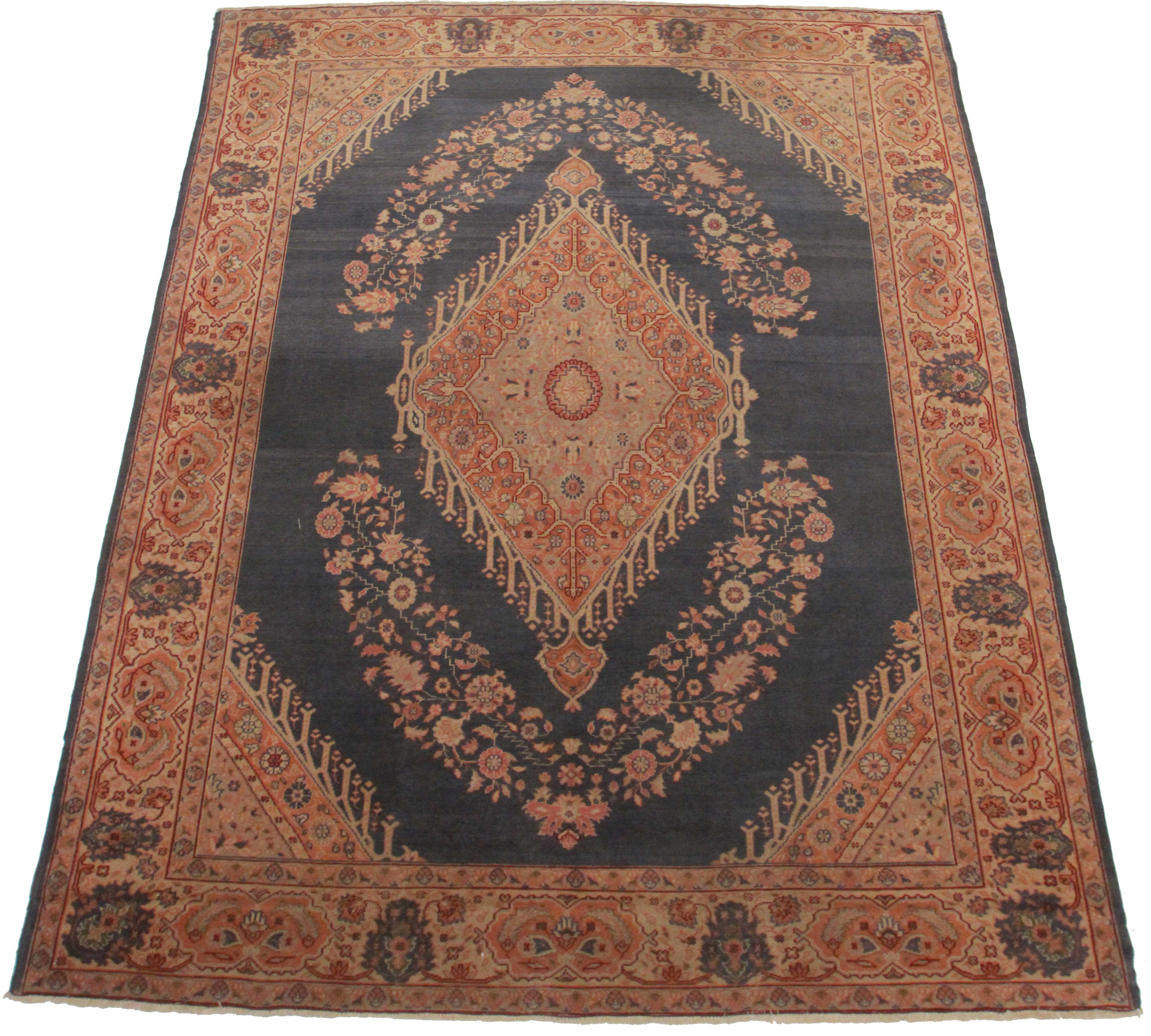Rugsindallas Antique Turkish Oushak Wool Rug 8 X 11 5 Chairish