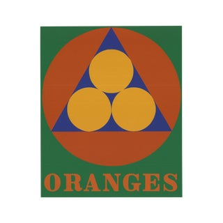 1997 Robert Indiana Oranges Serigraph