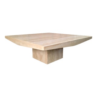 Art Deco Style Travertine Coffee Table For Sale