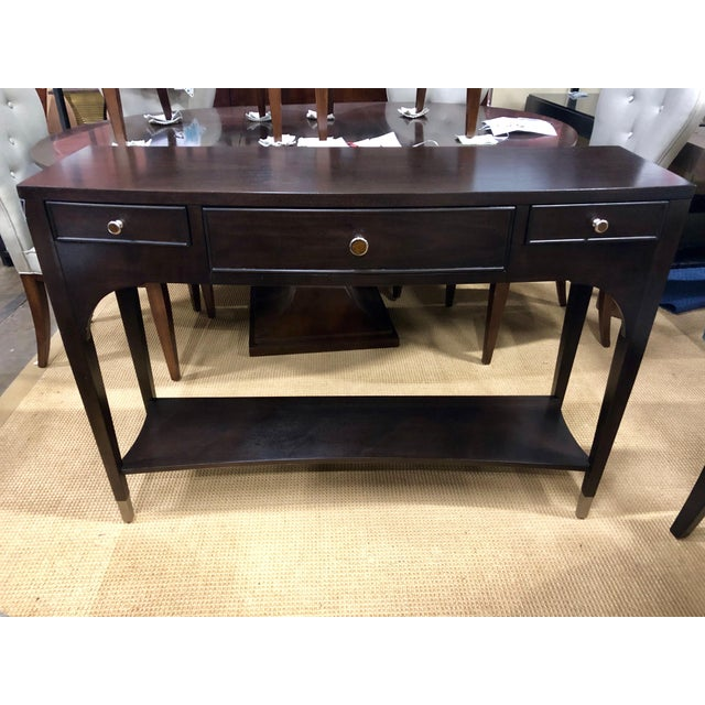 2000 - 2009 Traditional Brown Haven Console Table For Sale - Image 5 of 5