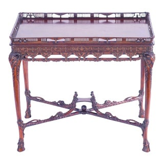 19th Century English Mahogany Table For Sale