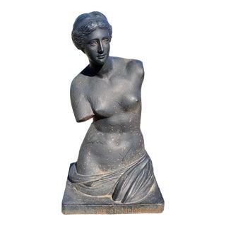 Mid 20th Century Cast Iron Venus De Milo Bust Sculpture For Sale