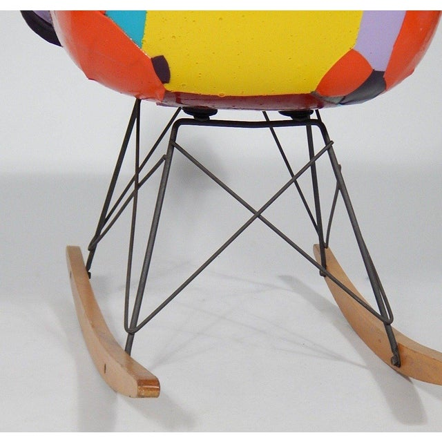 Early Eames 1950s Rocker Updated by Artist Jim Oliveira For Sale - Image 4 of 8